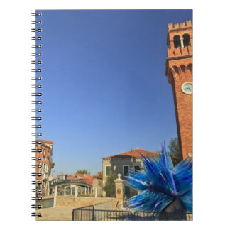 Large Glass Statue and Bell Tower, Italy Notebook
