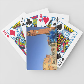Large Glass Statue and Bell Tower, Italy Poker Deck