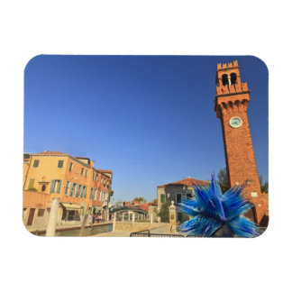 Large Glass Statue and Bell Tower, Italy Rectangular Photo Magnet