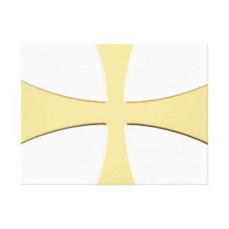 LARGE GOLD CROSS WRAP-MOUNTED PRINT