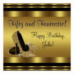 Large Gold High Heel Birthday Party Banner Poster