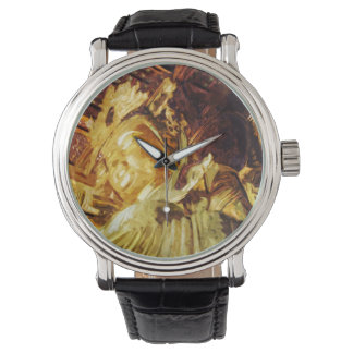 Large Gold Statue Kyoto Japan Abstract Wrist Watches