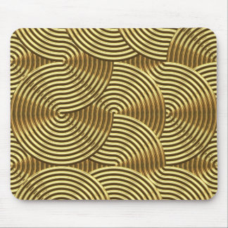 large golden swirls mouse pad