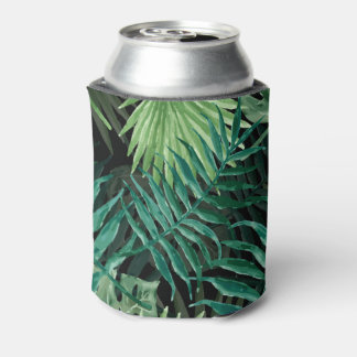 Large Green Fern Palm and Monstera Tropical Plants Can Cooler
