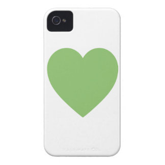 Large Green Heart iPhone 4 Case-Mate Case