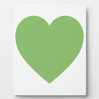 Large Green Heart Plaque