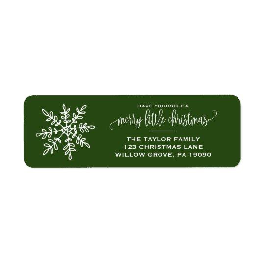 Large Green Snowflake Christmas
