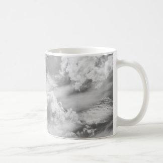 Large Grey Cloud Sky Basic White Mug