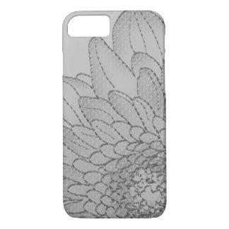 Large Grey Sunflower | Graphic Flower Design iPhone 7 Case