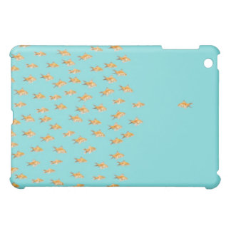 Large group of goldfish facing one lone goldfish iPad mini covers