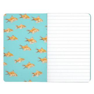 Large group of goldfish facing one lone goldfish journal