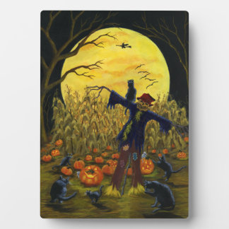 "Large Halloween easel backed art ""Jack's Place"" Plaque"