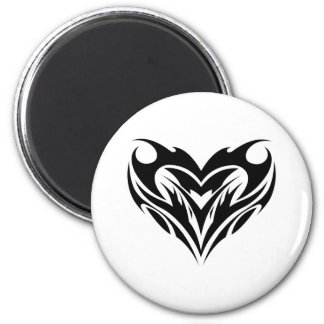 Large Heart Tribal Tattoo Design Magnet