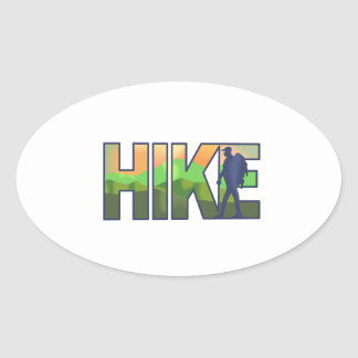 LARGE HIKE OVAL STICKER