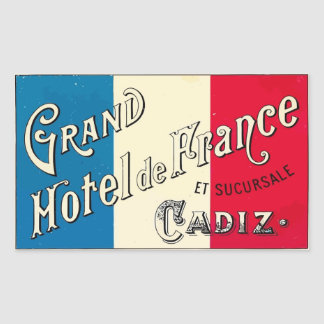 Large Hotel of France (Cadiz) Rectangular Sticker