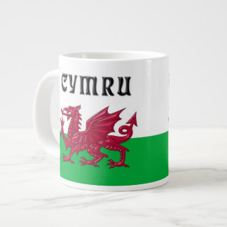 Large Jumbo Welsh Dragon Mug