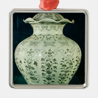 Large 'Kuoan' vase decorated with blue flowers Christmas Ornament