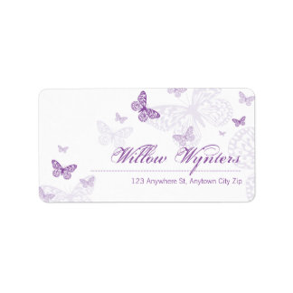 LARGE LABEL SEALS :: butterflies 3
