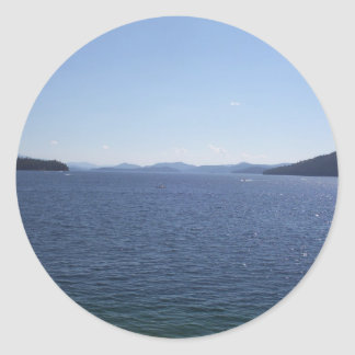 Large Lake Of Idaho Classic Round Sticker