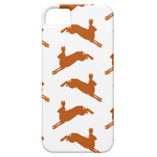 Large Leaping Hares Fawn Brown iPhone 5 Case