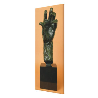 Large Left Hand (bronze) Canvas Print