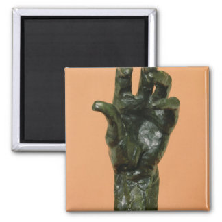 Large Left Hand (bronze) Square Magnet