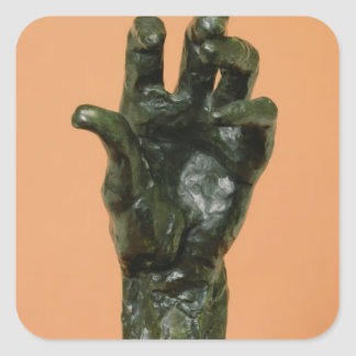 Large Left Hand (bronze) Square Sticker