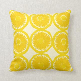 Large Lemon Slices Throw Pillow