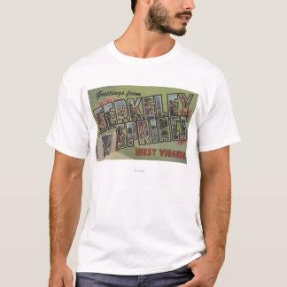 Large Letter Scenes - Berkeley Springs, WV T-Shirt