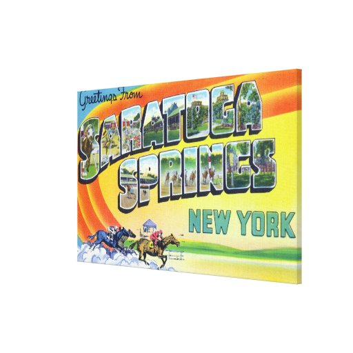 Large Letter Scenes - Greetings From 2 Canvas Print
