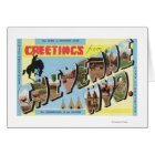 Large Letter Scenes, Greetings From 2 Card