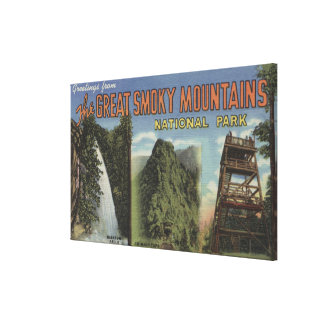 Large Letter Scenes - Smoky Mts. Nat'l Park, TN Canvas Print