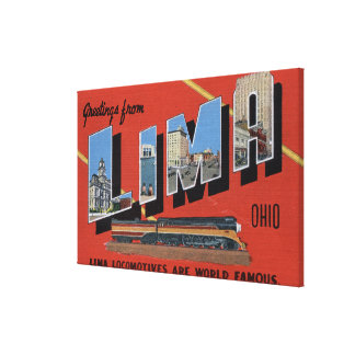 Large Letters - Lima Locomotives are World Canvas Print