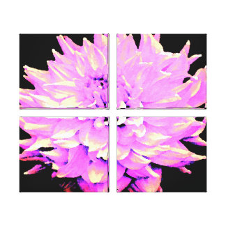 Large Lilac Dahlia Gallery Wrapped Canvas