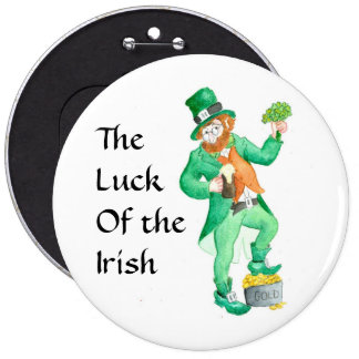 Large 'Luck of the Irish' Button