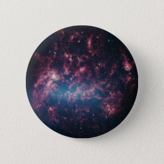 Large Magellanic Cloud - Galaxy and Stars 6 Cm Round Badge