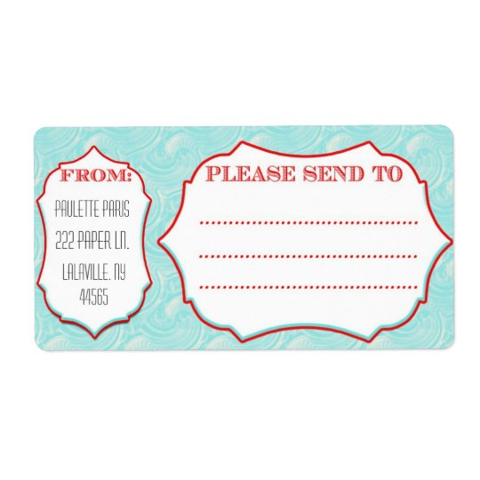 Large Mailing Labels Aqua Wave