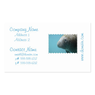 Large Manatee Underwater Pack Of Standard Business Cards