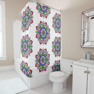Large Mandala Colorful Shower Curtain