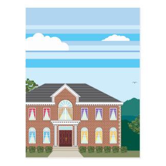 Large mansion house postcard