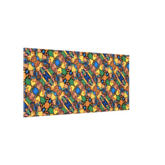 Large Modern Abstract Bright Colors Canvas Print