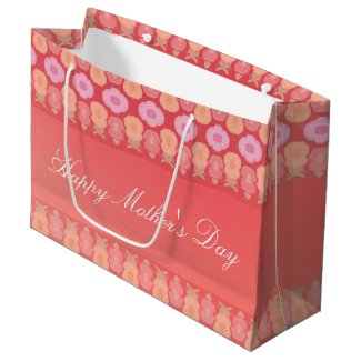 Large Mothers Day Flowered Gift Bag