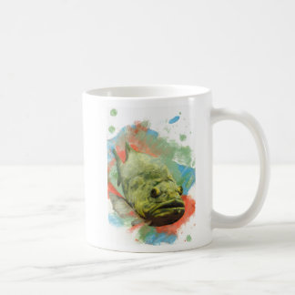 Large Mouth Bass Basic White Mug