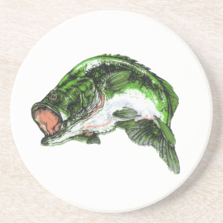 Large mouth Bass Drink Coasters