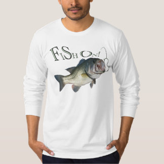 Large mouth bass, Fish on T-Shirt