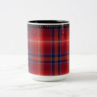 Large Mug - Red Lichtie Tartan - Customizable -