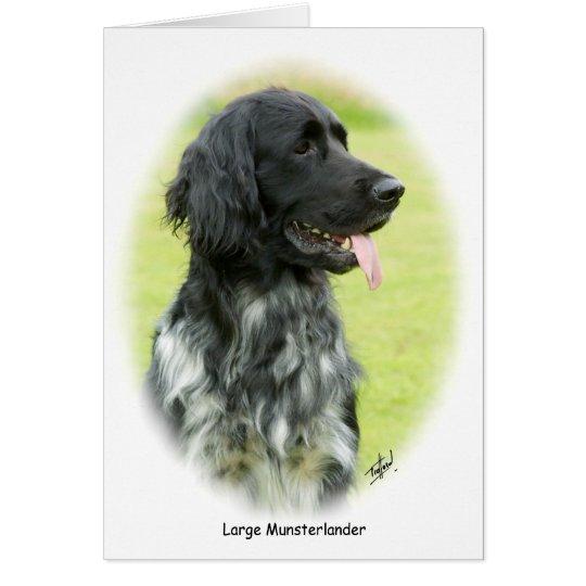 Large Munsterlander 9W020D-065 oval Card