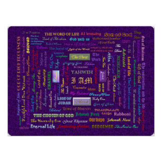 large  names of God poster