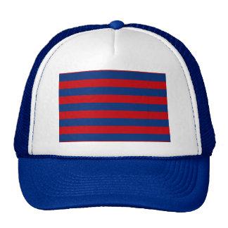 Large Nautical Theme Horizontal Stripes Trucker Hat