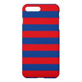Large Nautical Theme Horizontal Stripes iPhone 7 Plus Case